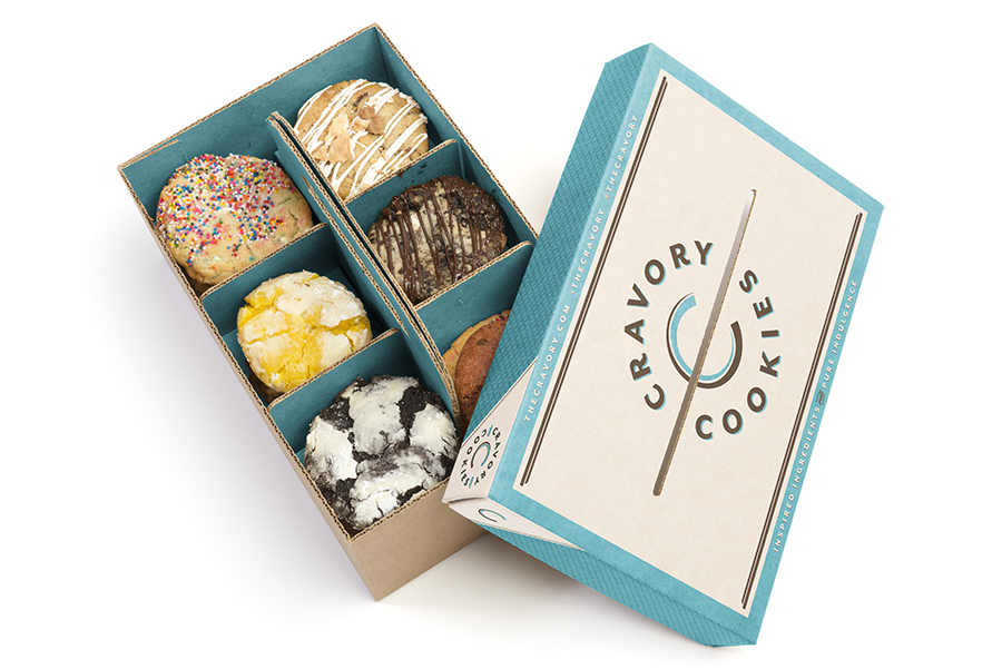 Wedding Gifts Packing Designs: Cravory Cookies Packaging