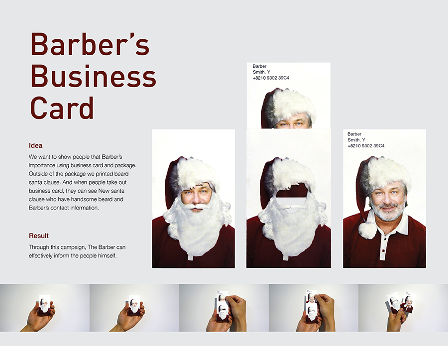 Barber\'s Business Card - Student Business Card Design Award