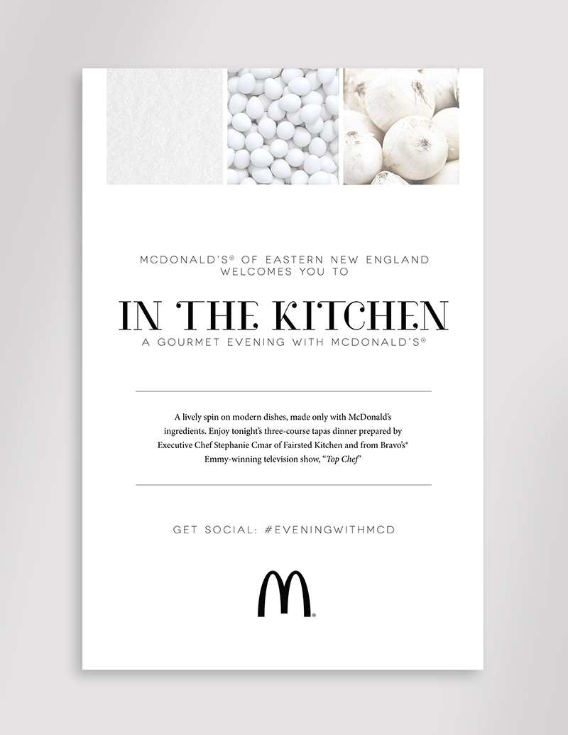 In the Kitchen: A Gourmet Evening with McDonald\'s - Poster Design Award